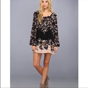 Free People Modern Chinoiserie Dress In Black XS